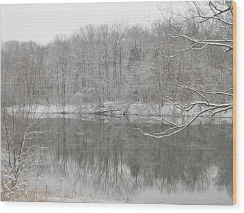 Winter Reflections 2 Wood Print