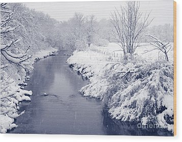 Wood Print featuring the photograph Winter River by Liz Leyden
