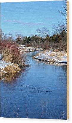 Winter River2 Wood Print by Jennifer  King