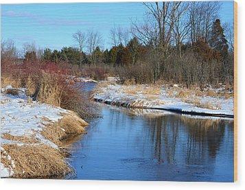 Winter River3 Wood Print by Jennifer  King