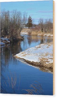 Winter River4 Wood Print by Jennifer  King