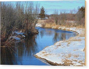 Winter River5 Wood Print by Jennifer  King