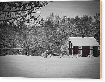 Winter Wood Print by Robert Hellstrom
