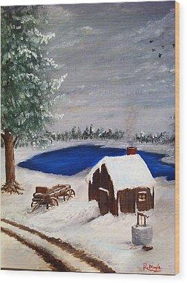 Winter Wood Print by Roy J Moyle