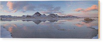 Winter Salt Flats Wood Print by Chad Dutson