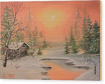 Winter Scene 2 Wood Print by Remegio Onia