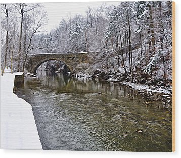 Winter Scene At Valley Green Wood Print by Bill Cannon