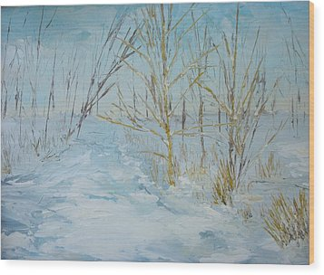 Winter Scene Wood Print by Dwayne Gresham
