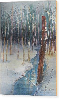 Winter Scene Wood Print by Lori Chase