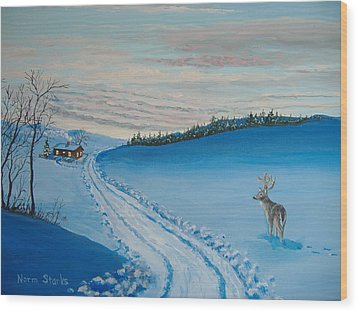 Winter Sentinel Wood Print by Norm Starks