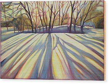 Winter Shadows Wood Print by Sheila Diemert
