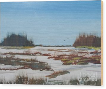 Wood Print featuring the painting Winter Silence by Jack G  Brauer