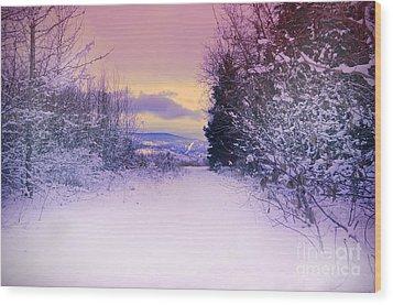 Winter Skies Wood Print by Tara Turner