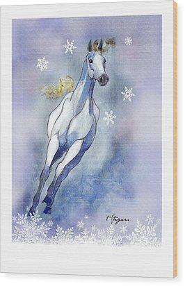 Winter Skye Wood Print
