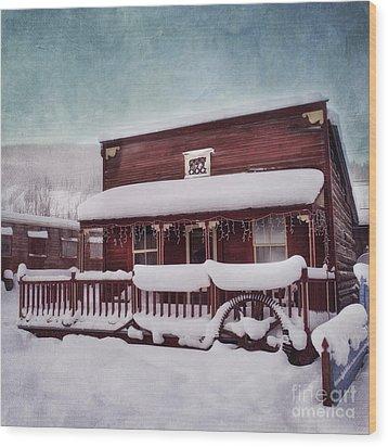 Winter Sleep Wood Print by Priska Wettstein