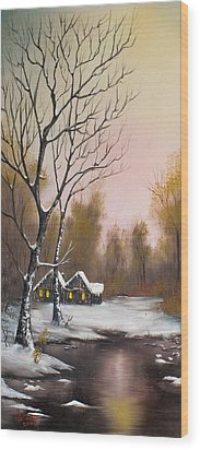 Winter Solace Wood Print by C Steele