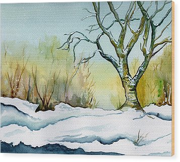 Winter Solitude Wood Print by Brenda Owen