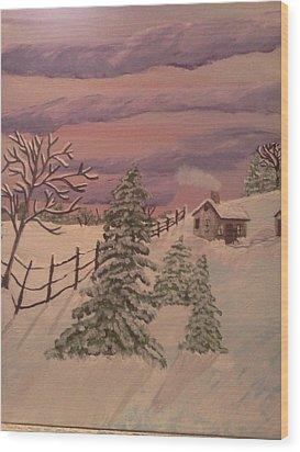 Winter Solitude Wood Print by Renee McKnight