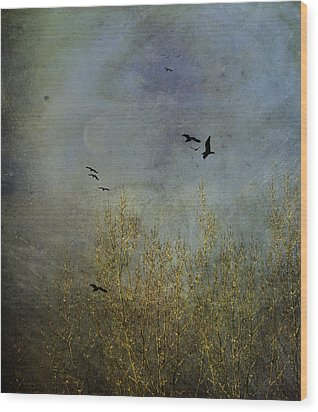 Winter Song Wood Print by Diane Schuster