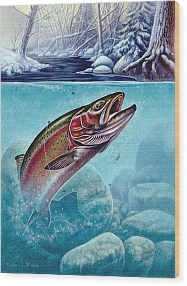Winter Steelhead Wood Print by Jon Q Wright