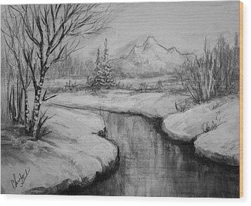 Winter Stillness Wood Print by C Steele