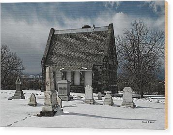 Winter Stone House Wood Print by Stephen  Johnson