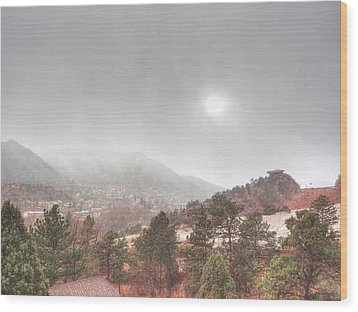 Wood Print featuring the photograph Winter Storm In Summer With Sun by Lanita Williams