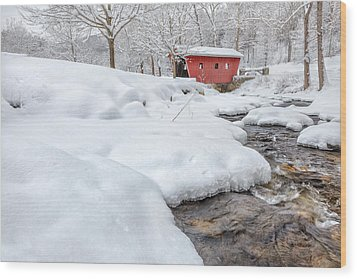 Winter Stream Wood Print by Bill Wakeley