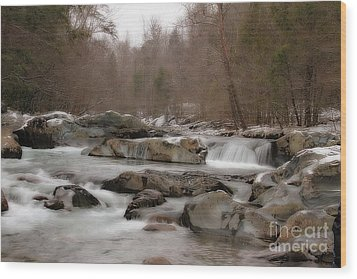 Wood Print featuring the photograph Winter Stream by Geraldine DeBoer