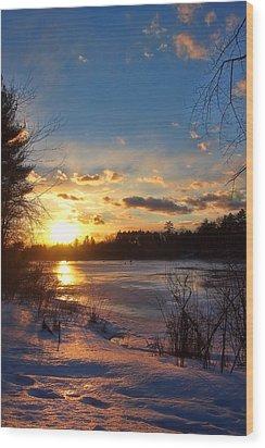 Winter Sundown Wood Print by Joann Vitali