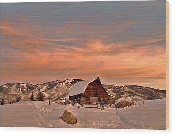 Winter Sundown Wood Print by Matt Helm