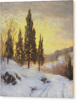 Winter Sundown Wood Print by Walter Launt Palmer