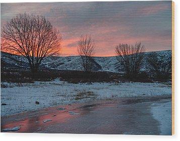 Winter Sunrise Wood Print by Chad Dutson
