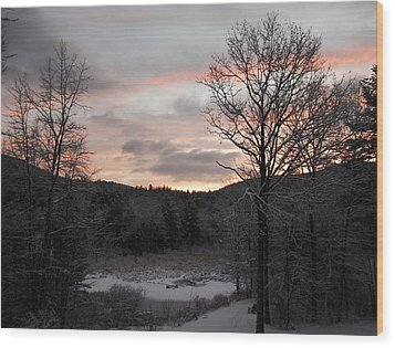 Wood Print featuring the photograph Winter Sunrise by Mim White