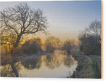 Wood Print featuring the photograph Winter Sunrise by Trevor Chriss