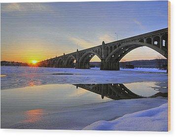 Winter Sunset Wood Print by Dan Myers