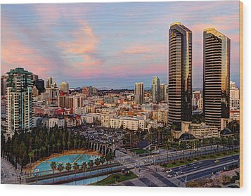 Wood Print featuring the photograph Winter Sunset San Diego by Heidi Smith