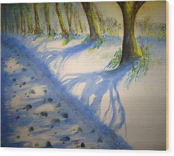 Winter Sunshine Wood Print