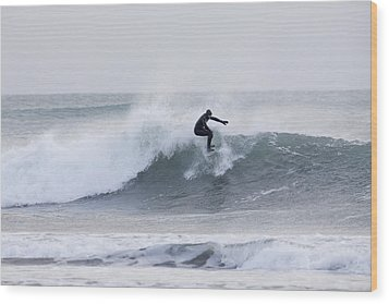 Winter Surfing Wood Print by Tim Grams