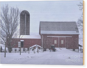 Winter Time Garrett County Maryland Wood Print by Dan Friend