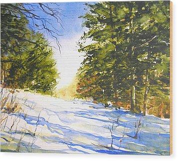 Winter Trail Wood Print