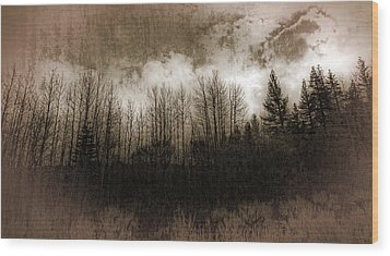 Winter Trees Wood Print by Dianne Phelps