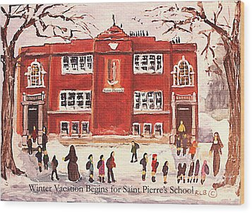 Winter Vacation Begins For Saint Pierre's School Wood Print