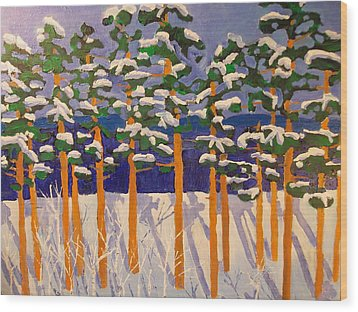 Winter Valley Wood Print by Rodger Ellingson