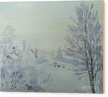 Winter Visitors Wood Print