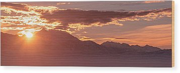Winter Wasatch Daybreak Wood Print by Chad Dutson