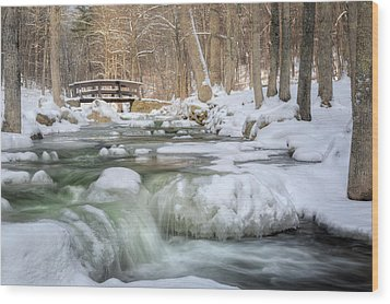 Wood Print featuring the photograph Winter Water by Bill Wakeley