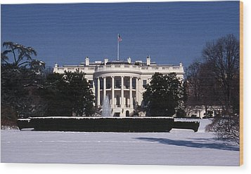 Winter White House  Wood Print by Skip Willits