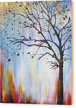 Winter Windstorm Wood Print