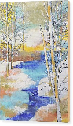 Winter Wonderland Wood Print by Betty M M   Wong
